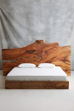 Live Edge Wood King Bed - anthropologie.com