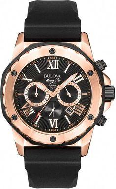 a8b93fae6 Bulova Men's Marine Star Stainless Steel Chronograph Watch - 98B104  #bestwatchesbrands Bulova Marine Star,
