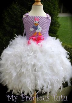 Hey, I found this really awesome Etsy listing at https://www.etsy.com/listing/165072026/daisy-duck-feather-tutu-dress