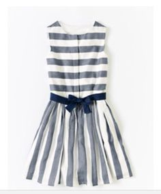 Adorable black and white striped dress!