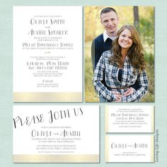 LDS Wedding Invitation Set | Gold Foil Dots | LDS Wedding Invite | Mormon  Wedding |