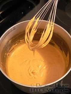 homemade nacho cheese sauce... with real ingredients!