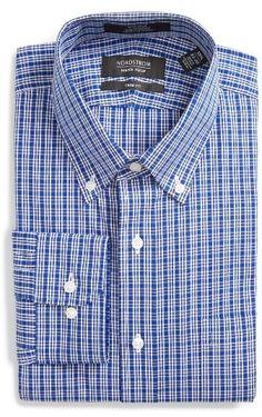 Men's Nordstrom Men's Shop Smartcare(TM) Trim Fit Plaid Dress Shirt