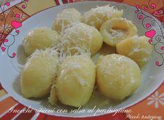 Gnocchi ripieni con salsa al parmigiano