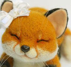 Needle felted fox Evy от mishmashim на Etsy