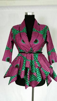 Hey, I found this really awesome Etsy listing at https://www.etsy.com/pt/listing/260938647/women-african-print-blazer-peplum-top