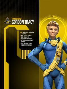 Gordon from Thunderbirds are go Go Tv, Thunderbirds Are Go, Search And Rescue, Favorite Tv Shows, Science Fiction, The Voice, Have Fun, Things To Come, Cgi