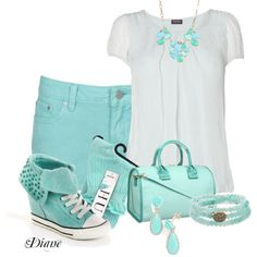 Turquoise Shoes, created by diane-shelton on Polyvore