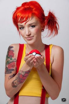 Video Game Girls - Pokemon Misty by Robin Cook - Video Game Costumes, Video Game Cosplay, Cosplay Outfits, Cosplay Girls, Cosplay Ideas, Costume Ideas, Video Games Girls, Games For Girls, Halloween Cosplay