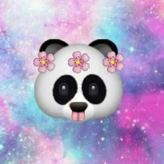 iPhone Panda Emoji | Panda emoji galaxy | Emoji's | Pinterest | Pandas and Galaxies