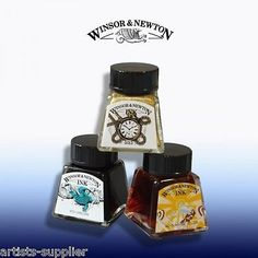 Winsor & newton drawing ink art calligraphy #black #indian ink & all #colours,  View more on the LINK: 	http://www.zeppy.io/product/gb/2/131401864667/