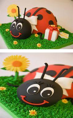 #ladybug #cake #cakes #kids #ladybugs