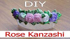 МК Розы Канзаши. Rose Kanzashi. DIY/Рукоделие. Cloth Flowers, Fabric Flowers, Bow Tutorial, Diy Hair Accessories, Flower Making, Diy Hairstyles, Ribbon, Bows, Crafts