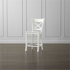 Vintner White Counter Stool | Crate and Barrel