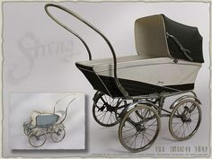 Stroller Pram Pushchair STRENG * cult * vintage * design-classic * by Sarah… Vintage Stroller, Vintage Pram, Pram Stroller, Baby Strollers, Prams And Pushchairs, Baby Buggy, Dolls Prams, Baby Prams, Cribs