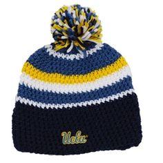 UCLA Pom Stripe Knit Beanie