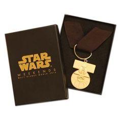 2014 Star Wars Weekends Rebel Rendezvous Lanyard Medal of Yavin Set LE2200 #disneystarwarsweekends