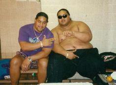 Cousins Solofa Fatu (Rikishi) & Rodney Anoa'i (Yokozuna)