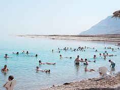 Mineral Beach - northern area of the Dead Sea, Israel #Travel, #DeadSea, #MineralBeach