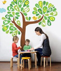 Alphabet Tree Wall Decal, Alphabet decals, Kindergarten decor, Preschool wall decal, Back to school