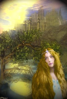 But fairer than all the wonders of Gondolin was Idril, Turgon's daughter, she that was called Celebrindal, the Silver-foot, whose hair was as the gold of Laurelin before the coming of Melkor. ~ The Silmarillion, Chapter 15 (Idril Celebrindal in Gondolin by maiarcita, deviantART)