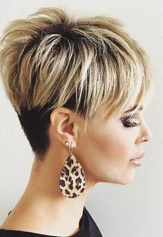 updo hairstyles for medium hair Brides Pixie Haircut For Thick Hair, Short Sassy Haircuts, Short Hair Undercut, Choppy Hair, Haircut For Older Women, Undercut Hairstyles, Cool Hairstyles, Short Hair With Layers, Short Hair Cuts
