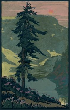 Old Canadian Rockies poster