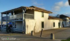 The old Haunted Custom House at Custom House Plaza Monterey in California. Many spirits linger around this haunted building.
