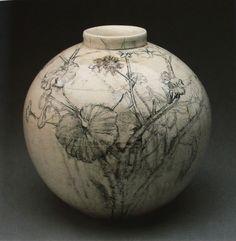 "journalofanobody: "" Jim Dine, Begonia in Brown and Black (ceramic), 1976 "" Ceramic Design, Ceramic Art, Martagon Lily, Pottery Designs, Pottery Ideas, Jim Dine, Art Articles, Still Life Drawing, Native American Pottery"