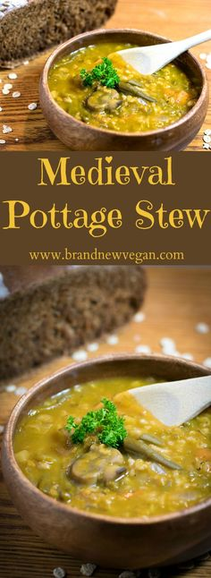 This Medieval Pottage Stew is simply another name for a thick, rich, soup often made by Peasants during the Middle Ages, chock-full of vegetables and grains .
