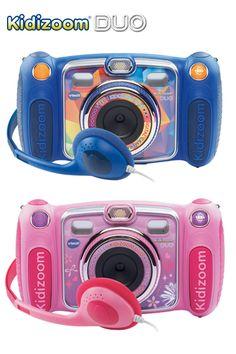 Kidizoom Duo, 3-12 jaar De 8 in 1 Kidizoom met 4x digitale zoom, camera aan de voor- én achterkant en groot kleurenscherm!