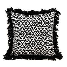 Society of Wonderland Nomad Diamond Woven Pillow Black/white By (210 CAD) ❤ liked on Polyvore featuring home, home decor, throw pillows, pillow, black toss pillows, black and white accent pillows, black white accent pillows, woven throw pillows and black and white home decor