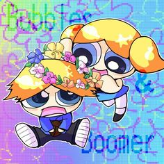 Powerpuff Girls : Bubbles and Boomer