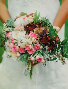 boho cluster bouquet