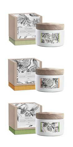 Packaging design inspiration Soy candle packaging concept More Online Gardening Catalogs At Your Dis Packaging Box, Skincare Packaging, Candle Packaging, Brand Packaging, Design Packaging, Candle Branding, Cosmetic Packaging, Tee Design, Label Design