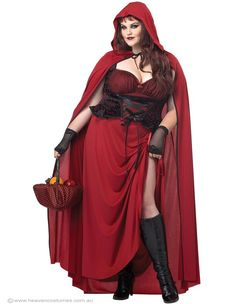 Plus Size Costumes For Women | Home / Dark Red Riding Hood Plus Size Women's Costume