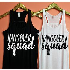 Hangover Squad Tank Top, XS-2XL, Funny Tank, hangover shirt, Tank Top, Brunch Tank, Hungover Tank, Mimosas Tank, Party Tank by ShopatBash on Etsy