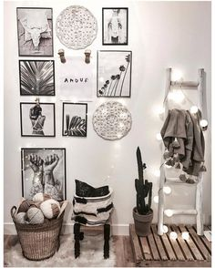 monochrome decor white gray black tones