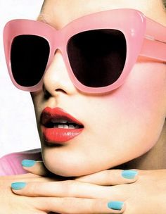 All you need to do with these big pink sunglasses is punch out the lenses and they are una's style!