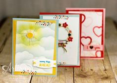 A trio of cards and a Project Life page using the Memories in the Making bundle from Stampin' Up!, by Marisa Gunn (PLxSU)1