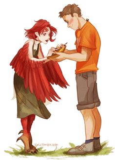Percy Jackson 30 day challenge: day number 9: What is your favorite monster? I know I've pinned this picture before, but these two are just too cute :)