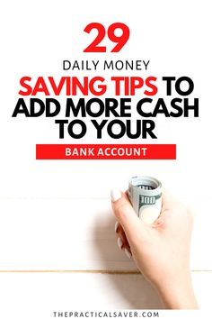 Sometimes, all it takes is a few money saving tips to get more into your bank account. Here are 29 smart, simple daily money habits to save money fast. These better money tips will have you more mindful of your personal finances and pay off debt fast with ease. Learn how to save money with these best frugal living tips. | The Practical Saver #savemoney #personalfinance #moneytips #frugalliving Saving Money Quotes, Money Saving Challenge, Money Saving Tips, Money Plan, Money Tips, Budgeting Finances, Budgeting Tips, Debt Snowball Worksheet, Budgeting Worksheets