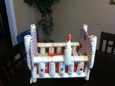 Crib Diaper Cake Centerpeice by NY2VACreations on Etsy, $75.00