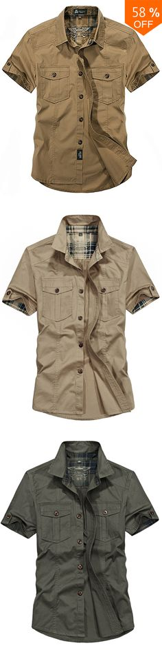 82a59a07360 Outdoor Cotton Breathable Multi Pockets Cargo Short Sleeve Work Shirts for  Men. Hugh Griffiths · Clothing · Mens Cotton Linen Chinese Style Retro Solid  ...