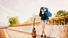 Girl in Musical Mood