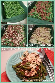 Healthy Low-Carb Green Bean Casserole one pot meal