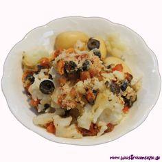 Blumenkohl mit Oliven bei Mida gibt es den Blumenkohl nur noch mit Oliven vegetarisch vegan laktosefrei glutenfrei