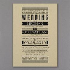 Typography Banner - Invitation - Gold Shimmer