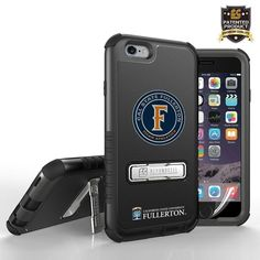 Licensed Cal State Fullerton Tri Shield Rugged Case with Kickstand, Circle Logo