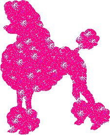 Poodle Glitter Graphic